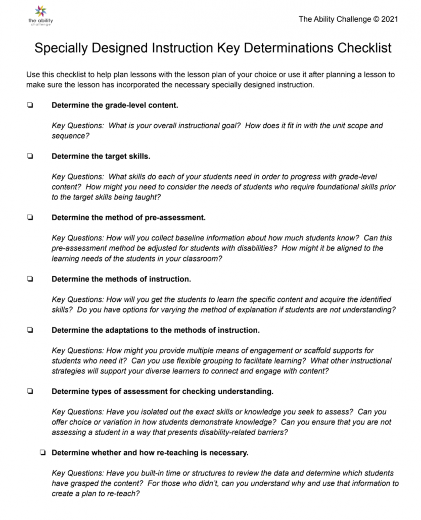 This checklist is a list of the design items discussed in this blog post.